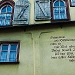 Spruch, irgendwo auf der Wand