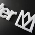 Laserschneiden Logo 4 mm Plexiglas
