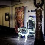 Hingucker in einer Tiefgarage bei einem Kunstprojekt