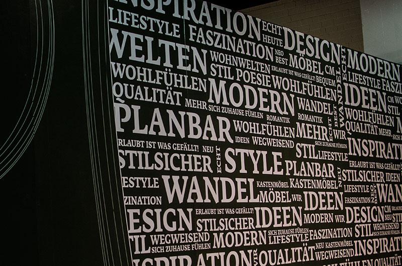 Wörtermeer aus Selbstklebefolie