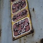 Gussschilder mit austauschbaren erhabenen Zeichen